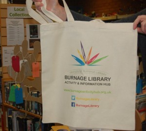 Spread the word! Show your support for the library with one of our new reusable bags.