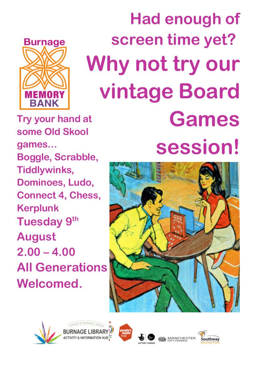 Vintage board games poster