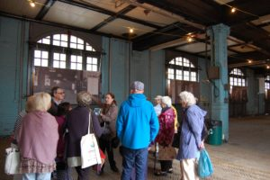 In the bays where the fire engines were once readied, we were shown old images of the station.