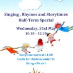 Storytime Half-Term Special: Wednesday 31st May, 10:30 - 12:30
