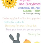 Storytime Special- 6th April at 10:30